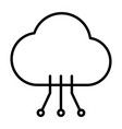 cloud technology line icon with circuit pattern vector image vector image