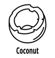 coconut icon outline style vector image vector image