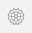 cog wheel or gear linear concept icon or vector image