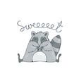 cute racoon vector image
