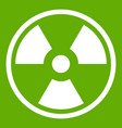 danger nuclear icon green vector image vector image