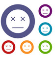 dead emoticons set vector image