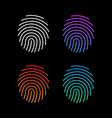 different modern gradient fingerprint icons set vector image