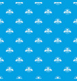 fast cargo pattern seamless blue vector image vector image