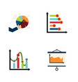 flat icon diagram set of chart infographic vector image