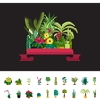 Florist shopPlants compositionFlower store flat vector image vector image
