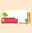 furniture in living or bedroom objects set with vector image