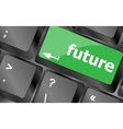 future key or keyboard showing forecast or vector image vector image
