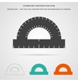 Geometry Protractor Ruler Icon vector image