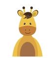 giraffe animal cartoon vector image vector image