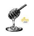 hand drawn sketch honey background vintage vector image