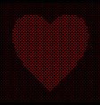 heart shaped pattern background graphic from red vector image vector image