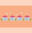 housing development flat design icon vector image vector image