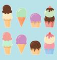 ice cream elements vector image vector image