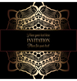 Invitation decorative golds 47 vector image vector image