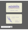 lavender business cards vector image