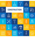 Line Art Construction Icons Set vector image vector image