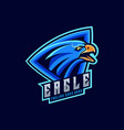 logo angry eagle sports style vector image
