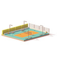 low poly volleyball court vector image