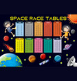 math times tables space theme vector image vector image