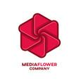 media flower logo vector image