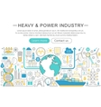 modern line flat design Heavy and power vector image vector image