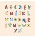 Monster english Alphabet shaped as monsters set