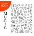 music instrument set sketch for your design vector image