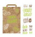 organic market kit vector image