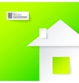 Origami home in paper vector image vector image
