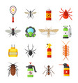 pest control icons on white background vector image vector image