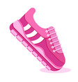 pink sneakers on white vector image