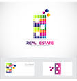 Real estate color building logo vector image vector image