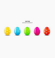 realistic 3d easter egg design element collection vector image vector image