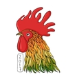 Rooster in graphical style vector image vector image