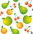 Seamless background of beautiful and juicy fruits vector image vector image
