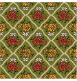seamless chinese style floral pattern vector image vector image