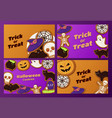 set halloween party background flat vector image