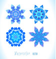 set of snowflakes fractals vector image vector image