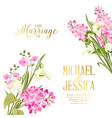 spring syringa flowers background for the marriage vector image vector image