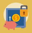 stronbox security money vector image vector image