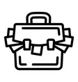 suitcase corruption money icon outline style vector image