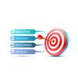 target finance landing page banner business 3d vector image