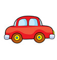 toy car red cartoon isolated object on white vector image vector image