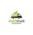 truck car diagram statistic chart bar logo vector image