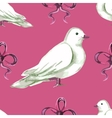 Watercolor seamless pattern with white doves vector image vector image