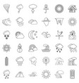 weather forecast icons set outline style vector image vector image