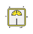 weight machine icon design vector image vector image