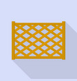 wood fence icon flat style vector image