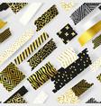 golden glitter seamless pattern geometric elements vector image